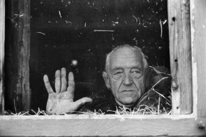 Andrew Wyeth on the Kuerner Farm in Chadds Ford, Pa., in 1991. David Alan Harvey/Magnum Photos