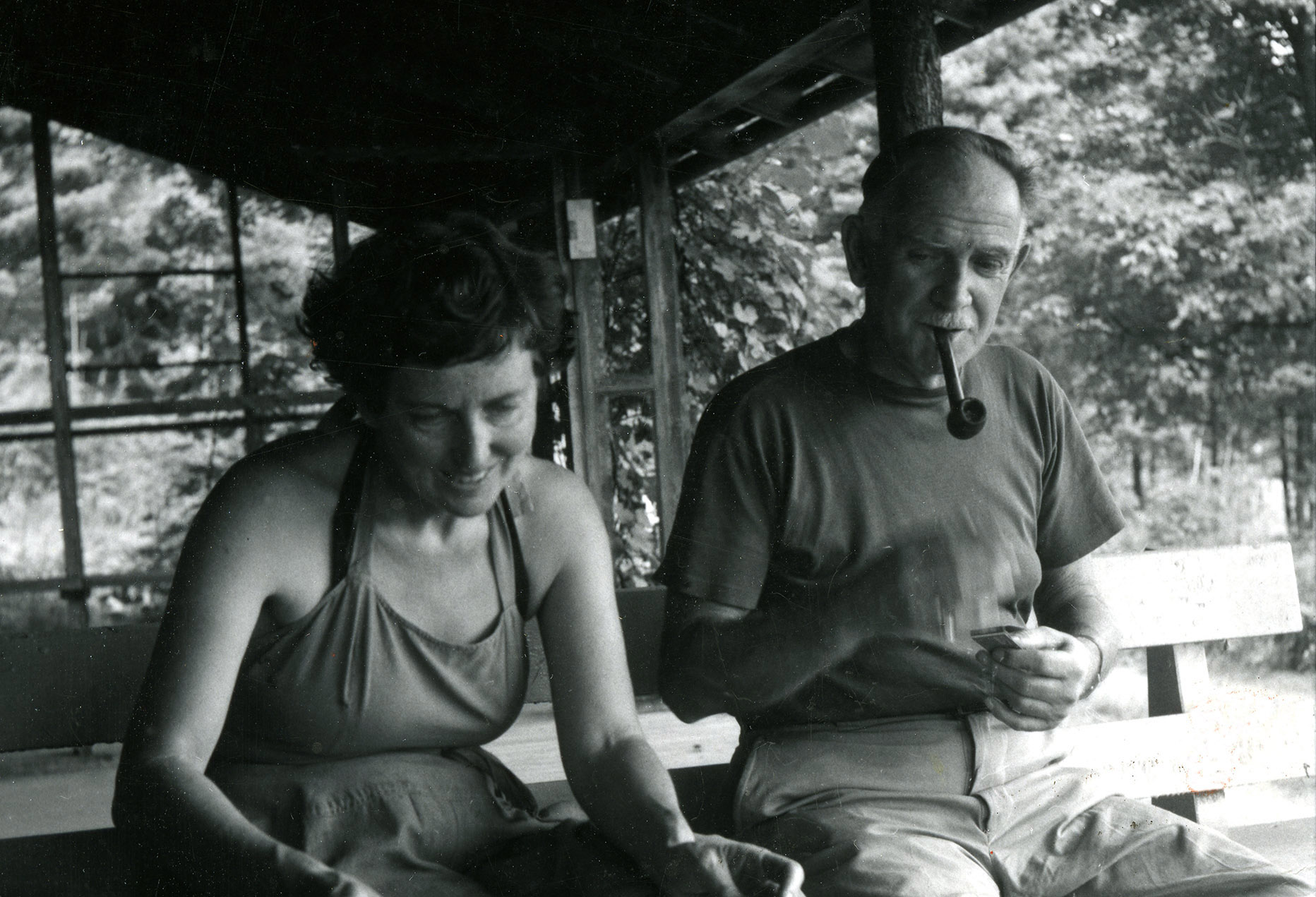Milton and Sally Avery in Woodstock, 1950