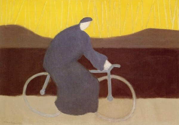 Milton Avery Bicycle Rider by the Loire, 1954