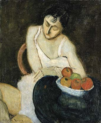 Milton Avery<br /> Sally Avery with Still Life, 1926
