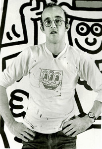 Keith Haring in 1985. Photo by David Howard