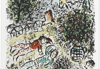 Le Abret Verte (The Green Tree), 1984 Medium: Lithograph Size: 32 x 26 inches Edition: 50 Signed in pencil