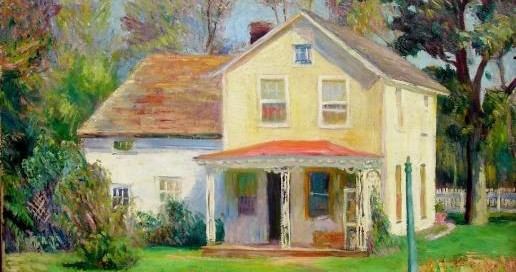 Long Island Cottage Oil on canvas 26 x 32 inches Signed: W Glackens (l.l.)