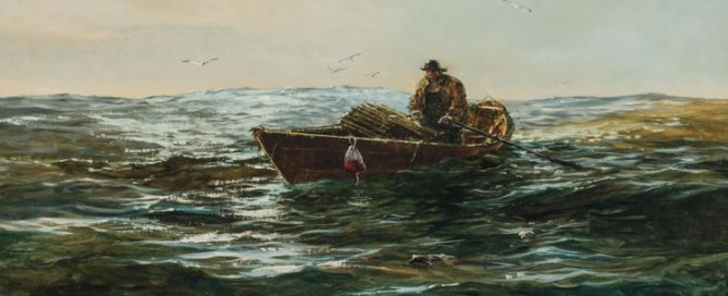 Lone Fisherman Medium: Oil on canvas Size: 21 ¾ x 29 ¾ inches Signed: Jack L. Gray (l.l.)