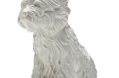 """""""Puppy"""" Medium: Ceramic multiple Size: 17 ½ x 17 x 18 inches Edition: 2181/3000 Signature embossed and numbered on bottom"""