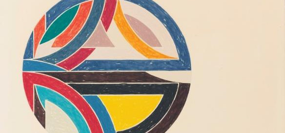 Sinjerli Variation 111, 1977 Offset lithograph and screenprint in colors 32 ½ x 42 ½ inches Signed: F. Stella '77 (l.r.) Edition: 77 /100