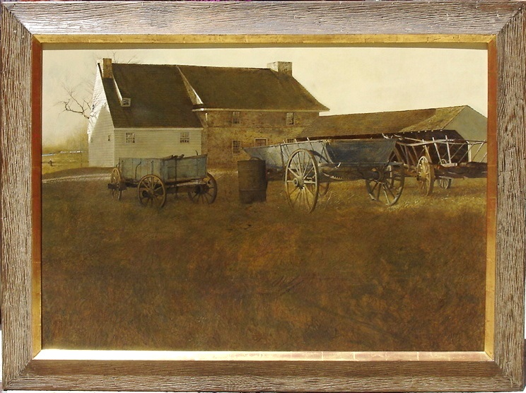 "Andrew Wyeth Title: ""Marsh Hawk"", 1964 Medium: Tempera on masonite Size: 30 ½ x 45 inches"
