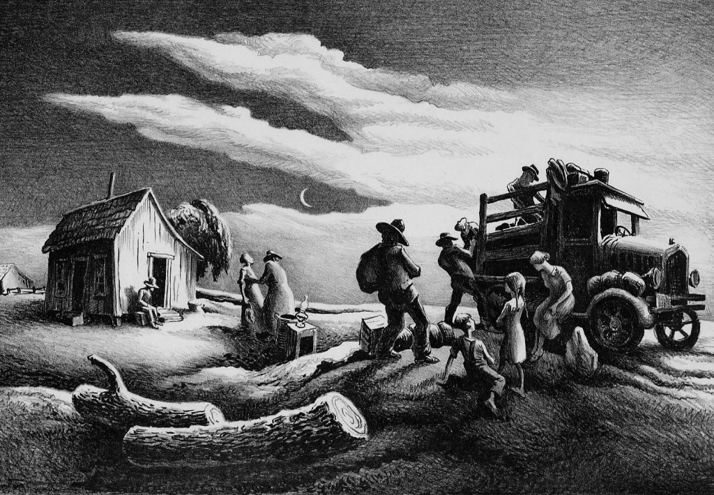 Thomas Hart Benton, Departure of the Joads from The Grapes of Wrath, 1939