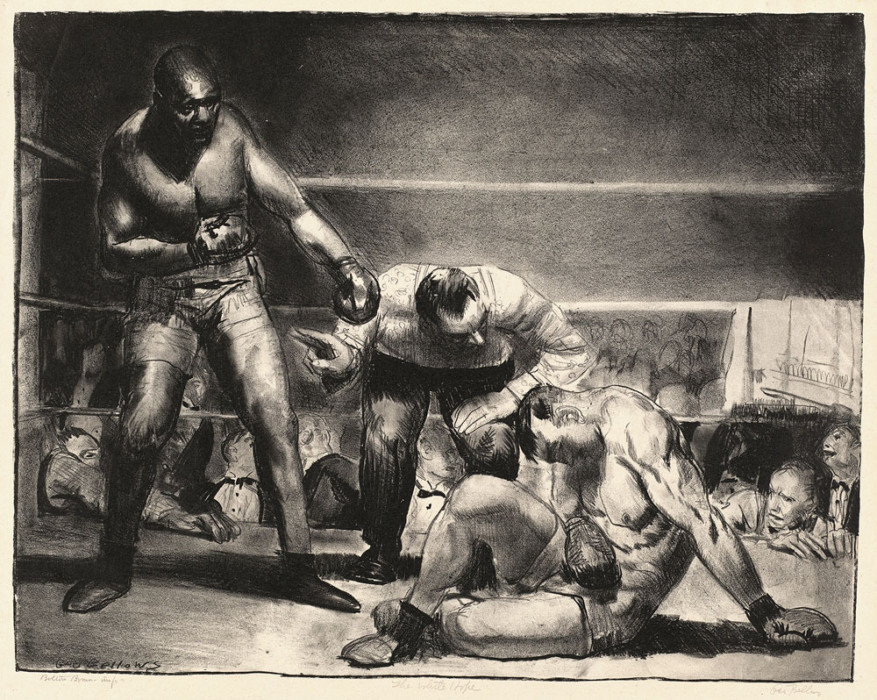 George Bellows, Great White Hope, 1921
