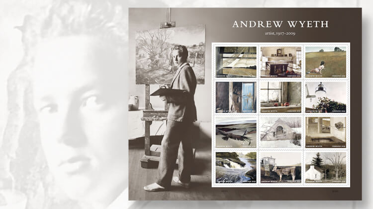 Andrew Wyeth commemorative stamps