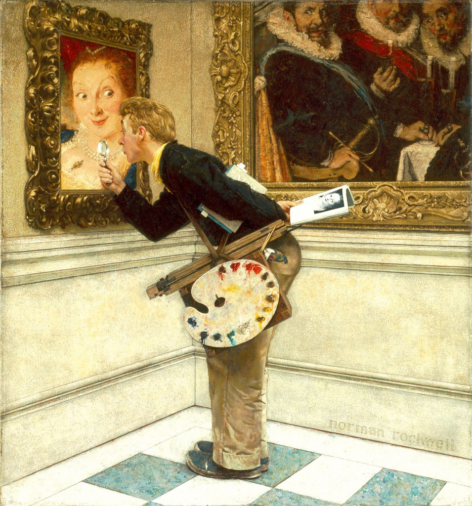 Norman Rockwell The Critic. 1955