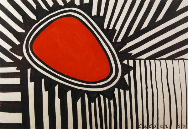 Enmeshed jewel, 1969 Gouache on paper 29 x 42.5 inches Signed and dated lower right Registration #: a14428